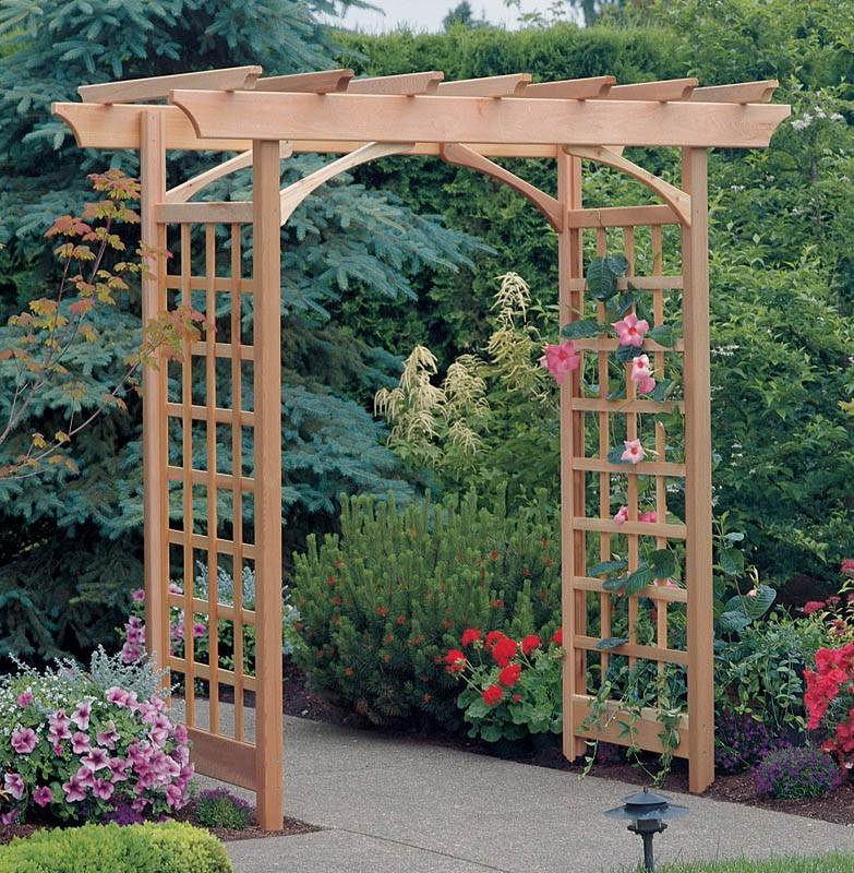 a trellis an arbor and a pergola magpie lane garden. Black Bedroom Furniture Sets. Home Design Ideas