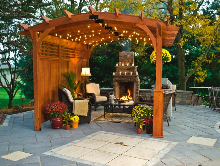 Pergolas likewise 44824 additionally Garden Shade Structures Patio Landscape furthermore Showy Steep Sloped Backyard Pool House Pavilion Pergolas also Garden Arbor Plangarden Trellis Arch. on arched pergola plans